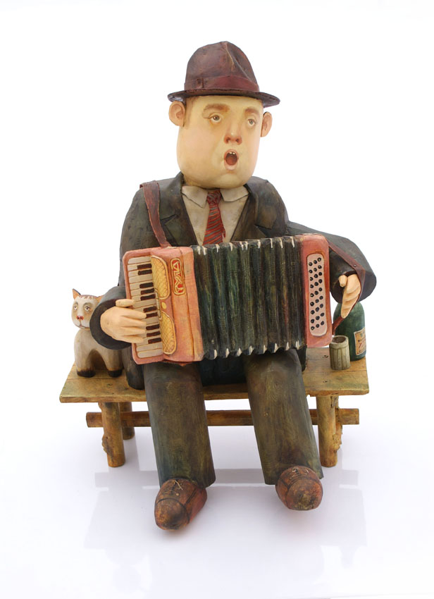 Accordionist, 2010, Painter - Ivanov Boris Mikhailovich