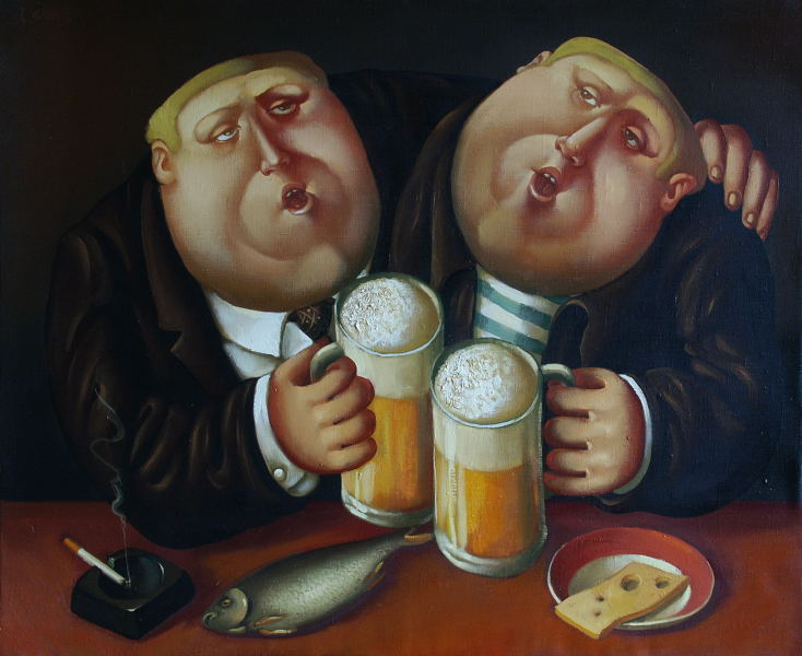 Beer brothers, 2003, Painter - Ivanov Boris Mikhailovich
