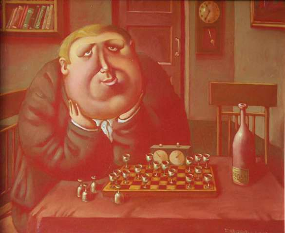 Chess-player, 2003, Painter - Ivanov Boris Mikhailovich