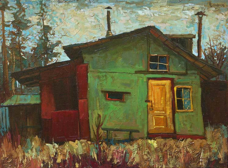Green hangar, 2007, Painter - Ivanov Boris Mikhailovich