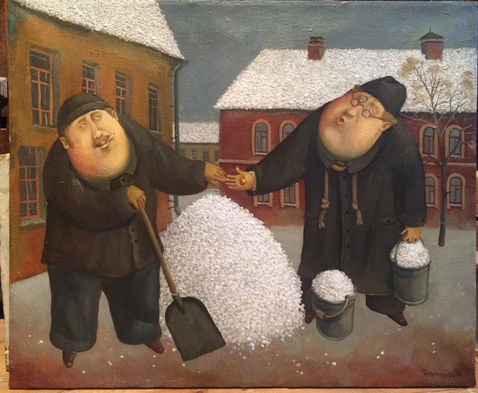 Snow is our wealth, 2017, Painter - Ivanov Boris Mikhailovich