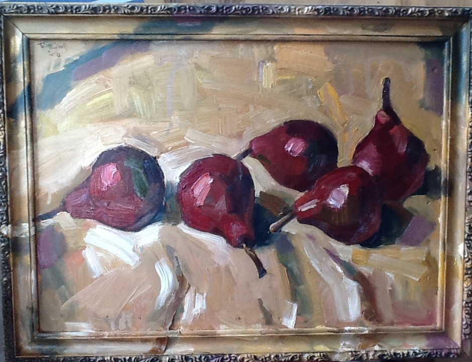 Red pears, 2016, Painter - Ivanov Boris Mikhailovich