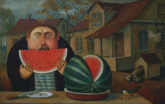 August. Watermelon., 2010, Painter - Ivanov Boris Mikhailovich