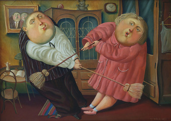 Family blow-up, 2010, Painter - Ivanov Boris Mikhailovich