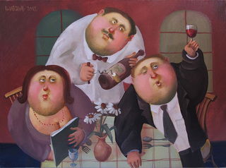 In the restaurant , 2012, Painter - Ivanov Boris Mikhailovich