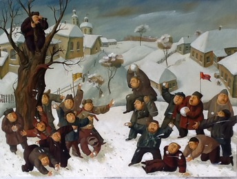 Snow battle, 2015, Painter - Ivanov Boris Mikhailovich