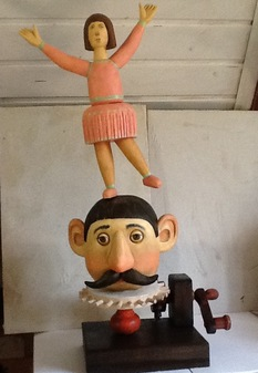 Girl on head, 2014, Painter - Ivanov Boris Mikhailovich